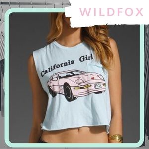 Rare NWT WILDFOX California Girl Crop Tank